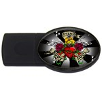 Oval-Black-Mind_-Body-and-Soul-Tattoo-Belt-Buckle USB Flash Drive Oval (1 GB)