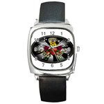 Oval-Black-Mind_-Body-and-Soul-Tattoo-Belt-Buckle Square Metal Watch
