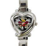 Oval-Black-Mind_-Body-and-Soul-Tattoo-Belt-Buckle Heart Italian Charm Watch