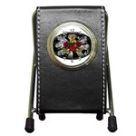 Oval-Black-Mind_-Body-and-Soul-Tattoo-Belt-Buckle Pen Holder Desk Clock