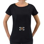 Oval-Black-Mind_-Body-and-Soul-Tattoo-Belt-Buckle Maternity Black T-Shirt