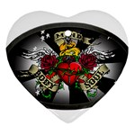 Oval-Black-Mind_-Body-and-Soul-Tattoo-Belt-Buckle Heart Ornament (Two Sides)