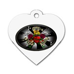 Oval-Black-Mind_-Body-and-Soul-Tattoo-Belt-Buckle Dog Tag Heart (One Side)