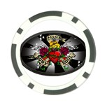 Oval-Black-Mind_-Body-and-Soul-Tattoo-Belt-Buckle Poker Chip Card Guard