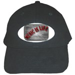 Music-Is-Life-Belt-Buckle Black Cap