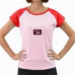 Music-Is-Life-Belt-Buckle Women s Cap Sleeve T-Shirt