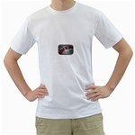 Music-Is-Life-Belt-Buckle White T-Shirt