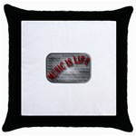 Music-Is-Life-Belt-Buckle Throw Pillow Case (Black)