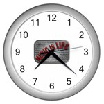 Music-Is-Life-Belt-Buckle Wall Clock (Silver)