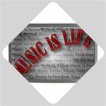 Music-Is-Life-Belt-Buckle Car Window Sign
