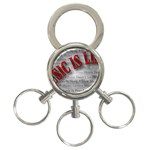 Music-Is-Life-Belt-Buckle 3-Ring Key Chain