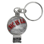 Music-Is-Life-Belt-Buckle Nail Clippers Key Chain