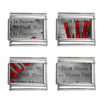 Music-Is-Life-Belt-Buckle 9mm Italian Charm (4 pack)