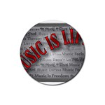 Music-Is-Life-Belt-Buckle Rubber Round Coaster (4 pack)