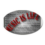 Music-Is-Life-Belt-Buckle Magnet (Oval)