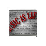 Music-Is-Life-Belt-Buckle Magnet (Square)
