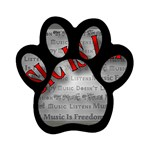 Music-Is-Life-Belt-Buckle Magnet (Paw Print)