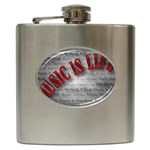 Music-Is-Life-Belt-Buckle Hip Flask (6 oz)