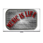 Music-Is-Life-Belt-Buckle Business Card Holder