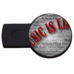 Music-Is-Life-Belt-Buckle USB Flash Drive Round (2 GB)