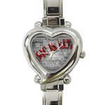 Music-Is-Life-Belt-Buckle Heart Italian Charm Watch