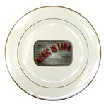 Music-Is-Life-Belt-Buckle Porcelain Plate