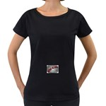 Music-Is-Life-Belt-Buckle Maternity Black T-Shirt