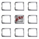 Music-Is-Life-Belt-Buckle Mega Link Italian Charm (9 pack)