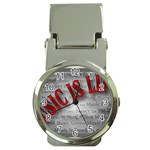 Music-Is-Life-Belt-Buckle Money Clip Watch