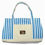 Music-Is-Life-Belt-Buckle Striped Blue Tote Bag