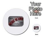 Music-Is-Life-Belt-Buckle Multi-purpose Cards (Round)