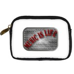 Music-Is-Life-Belt-Buckle Digital Camera Leather Case