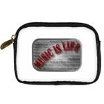 Music-Is-Life-Belt-Buckle Digital Camera Leather Case