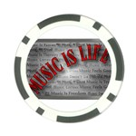 Music-Is-Life-Belt-Buckle Poker Chip Card Guard (10 pack)