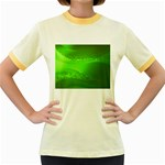 4-702-Fwallpapers_077 Women s Fitted Ringer T-Shirt