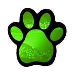 4-702-Fwallpapers_077 Magnet (Paw Print)