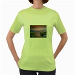4-15-Backgrounds_1024x768_002 Women s Green T-Shirt