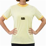 277G1001 Women s Fitted Ringer T-Shirt
