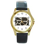 277G1001 Round Gold Metal Watch