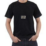 277G1001 Black T-Shirt (Two Sides)