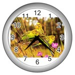2-95-Animals-Wildlife-1024-028 Wall Clock (Silver)