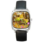 2-95-Animals-Wildlife-1024-028 Square Metal Watch