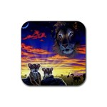 2-77-Animals-Wildlife-1024-010 Rubber Square Coaster (4 pack)