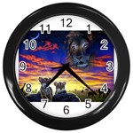 2-77-Animals-Wildlife-1024-010 Wall Clock (Black)