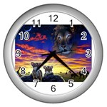 2-77-Animals-Wildlife-1024-010 Wall Clock (Silver)