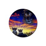 2-77-Animals-Wildlife-1024-010 Rubber Round Coaster (4 pack)