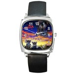 2-77-Animals-Wildlife-1024-010 Square Metal Watch
