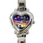 2-77-Animals-Wildlife-1024-010 Heart Italian Charm Watch