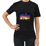 2-77-Animals-Wildlife-1024-010 Women s Black T-Shirt (Two Sides)