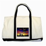 2-77-Animals-Wildlife-1024-010 Two Tone Tote Bag